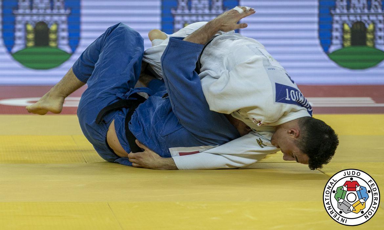 Guilherme Schmidt leva prata no judô no Grand Prix de Zagreb