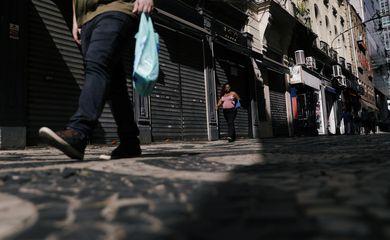 comércio, lojas fechadas, Região central do Rio de Janeiro