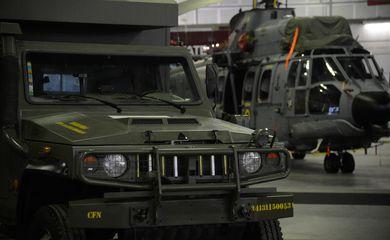 Rio de Janeiro - Feira LAAD Defesa e Segurança 2017 reúne fornecedores de equipamentos, serviços e tecnologias para as Forças Armadas e forças policiais, no Riocentro (Fernando Frazão/Agência Brasil)