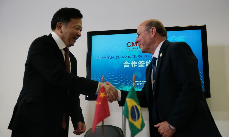 Assinatura do Acordo de Cooperação entre a EBC e o China Media Group será realizada nesta quarta-feira (13),  no Centro de Capacitação da EBC, em Brasília