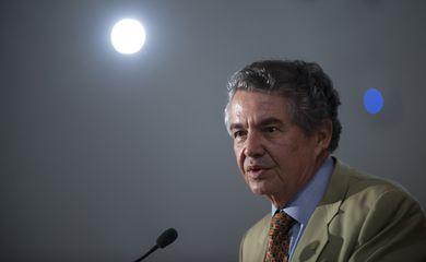 Presidente do TSE, ministro Marco Aurélio Mello, durante balanço, anunciou que houve crescimento de 4,43% no número de eleitores aptos a votar nas eleições de outubro (Marcelo Camargo/Agência Brasil)