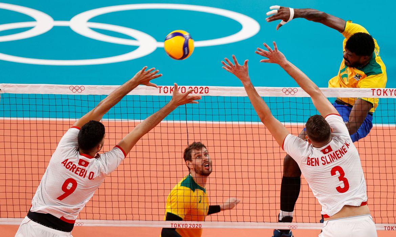 brasil, tunísia, vôlei, olimpíada, tóquio 2020
