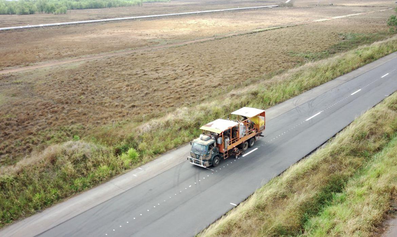 A melhoria das condições de trafegabilidade na BR-135/MA é uma prioridade para o @govbr  As obras de duplicação na rodovia visam melhorar as condições para o transporte de produtos, reduzir o tempo de percurso dos usuários e garantir mais