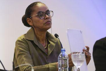 A candidata à Presidência da República, Marina Silva (Rede) participa do debate
