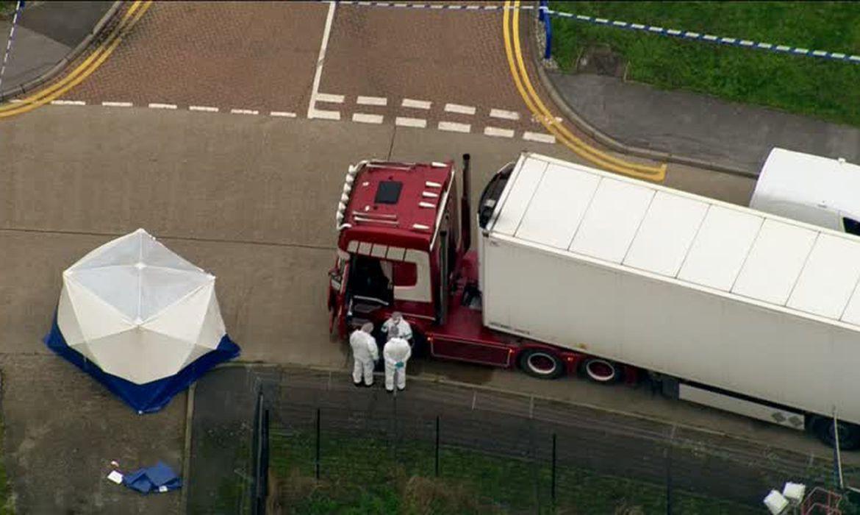 caminhão de Essex onde 39 corpos encontrados