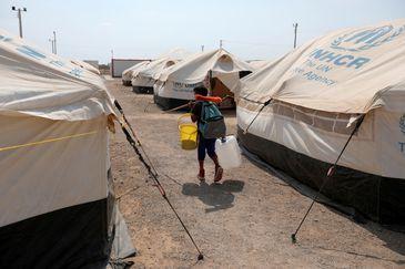 Venezuelanos, Migrantes, acampamento