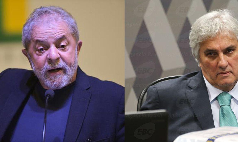 Ex-presidente Luiz Inácio Lula da Silva e ex-senador Delcídio do Amaral