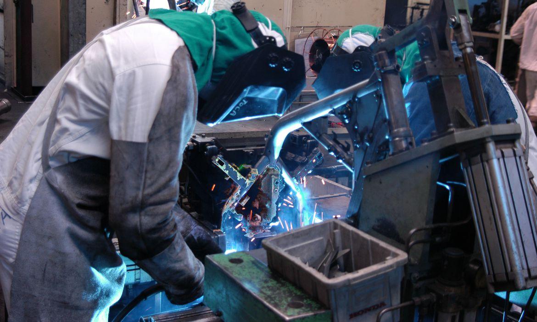 Fábrica da Moto Honda em Manaus. Chão de fábrica.  Manaus (AM) 10.04.2006 - Foto: Miguel Ângelo