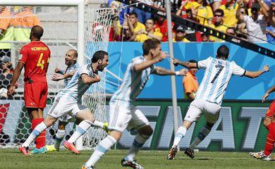 Gol da Argentina contra a Bélgica
