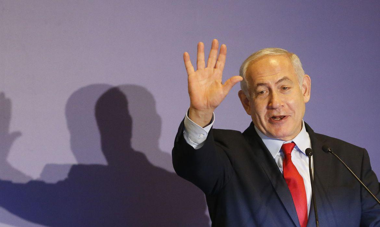 O primeiro-ministro de Israel, Benjamin Netanyahu, participa de encontro com a comunidade judaica do Rio e amigos cristãos de Israel, no Hotel Hilton em Copacabana.