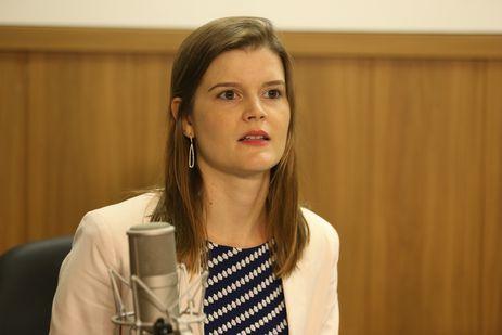 Brasília - A chefe da Assessora Especial da Casa Civil da Presidência da República, Martha Seillier, no programa A Voz do Brasil, sobre a Reforma Trabalhista (Valter Campanato/Agência Brasil)