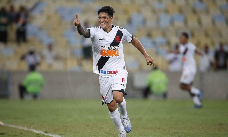 Germán Cano comemora gol da vitória do Vasco sobre o ABC na Copa do Brasil
