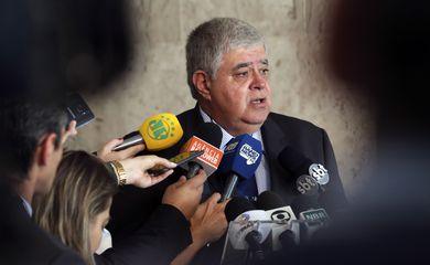 O ministro Carlos Marun fala sobre a greve dos Caminhoneiros.