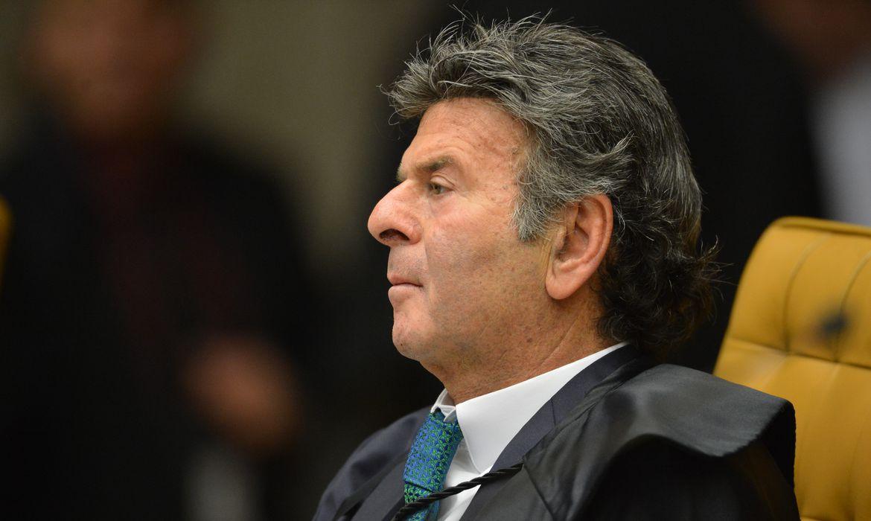 O ministro Luiz Fux, durante a segunda parte da sessão dehoje(23) parajulgamento sobre a validade da prisão emsegundainstância do Supremo Tribunal Federal (STF).