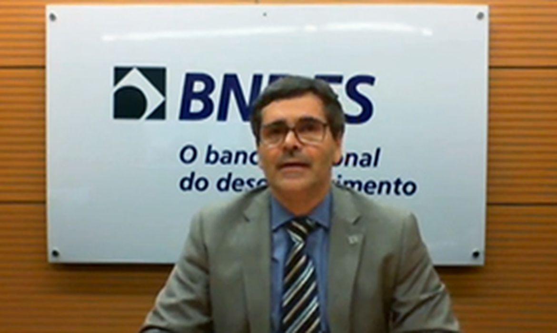 Diretor do BNDES, Petrônio Duarte Cançado, durante audiência pública virtual sobre o Fundo Amazônia
