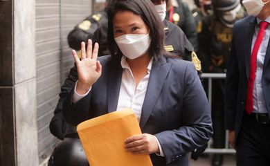 Peru's presidential candidate Keiko Fujimori delivers letter requesting international audit of the vote, in Lima