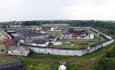 Foto aérea do Complexo Penitenciário de Santa Izabel (Thiago Gomes/Ascom Susipe/direitos reservados)