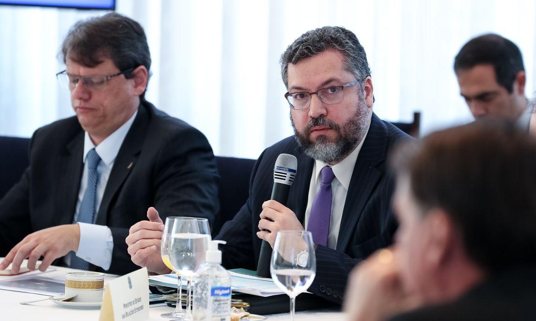 Palavras do Ministro de Estado das Relações Exteriores, Embaixador Ernesto Henrique Fraga Araújo.
