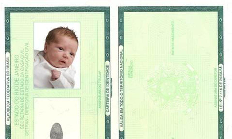 Carteira de Identidade de Recém-Nascido