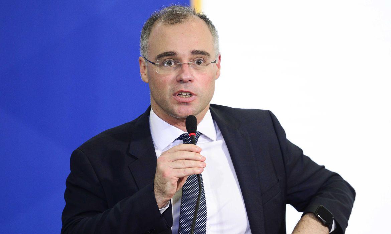 O ministro da Justiça, André Mendonça, durante solenidade de Ação de Graças, no Palácio do Planalto.