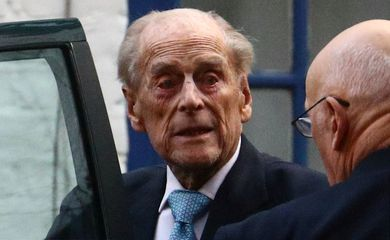 FILE PHOTO: Britain's Prince Philip leaves the King Edward VII's Hospital in London
