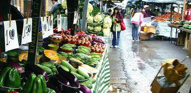 feira, verduras, alimentação saudável