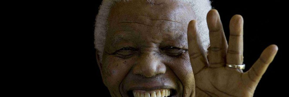 Mandela em momento de descontração