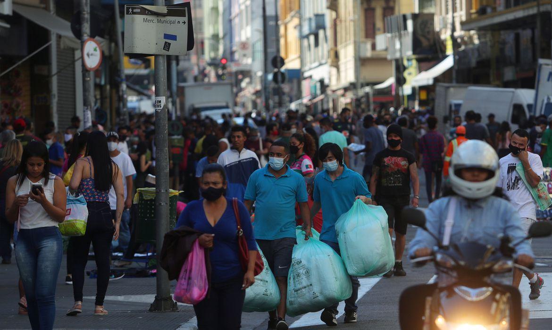 Comercio de rua, São Paulo (SP) , pandemia de coronavírus.