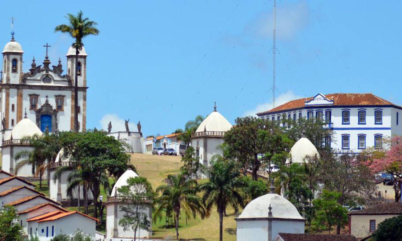 Vista da cidade histórica de Congonhas, em Minas Gerais