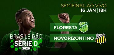 TV Brasil exibe jogo de ida da semifinal Floresta (CE) e Novorizontino (SP) pela Série D