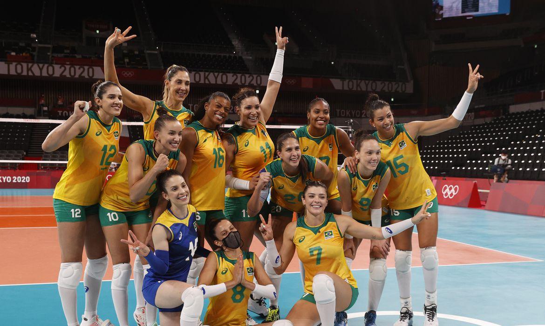 Brasil vence o Quênia por 3 sets a 0 em Tóquio 2020.