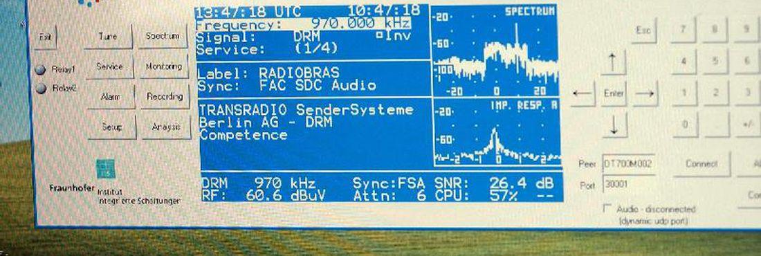 rádio digital testes