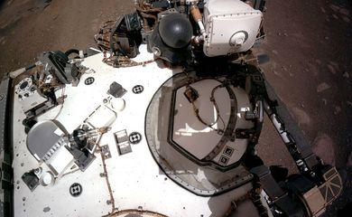 Sonda Perseverance em Marte, no dia 20 de fevereiro de 2021.