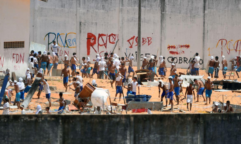 Detentos entram em confronto na Penitenciária Estadual de Alcaçuz, no Rio Grande do Norte