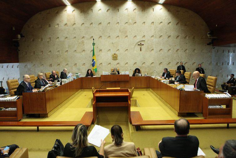 Brasília - Plenário do Supremo Tribunal Federal (STF) durante sessão para julgamento sobre imunidade parlamentar de deputados estaduais (Carlos Moura/SCO/STF)