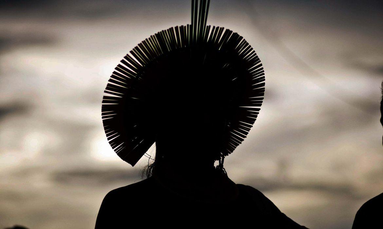 São Félix do Xingu (PA) - Cerca de 4 mil índios participam da Semana dos Povos Indígenas. O evento começou no sábado (15) e vai até quarta-feira (19), quando é celebrado o Dia do Índio (Thiago Gomes/Agência Pará)