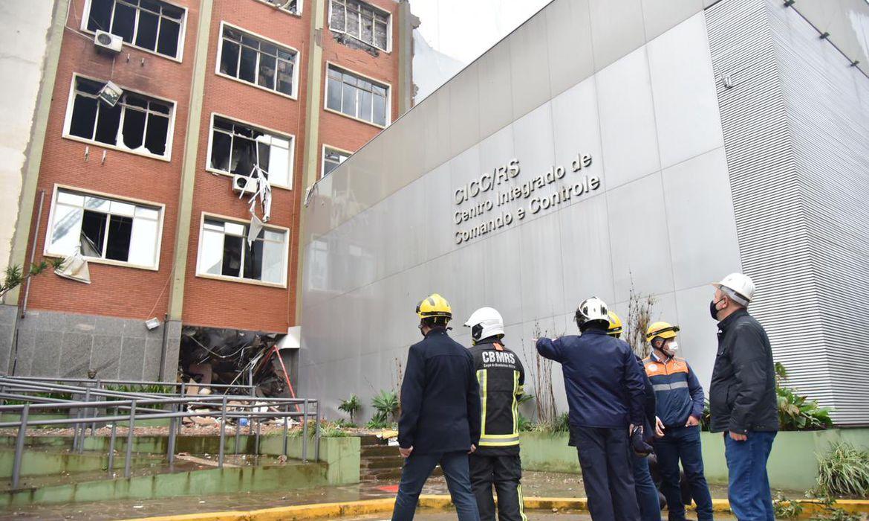 Incêndio na Secretaria de Segurança Pública de Porto Alegre