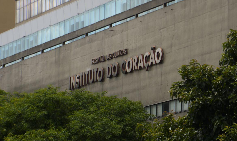 Fachada do Instituto do Coração do Hospital das Clínicas da FMUSP.