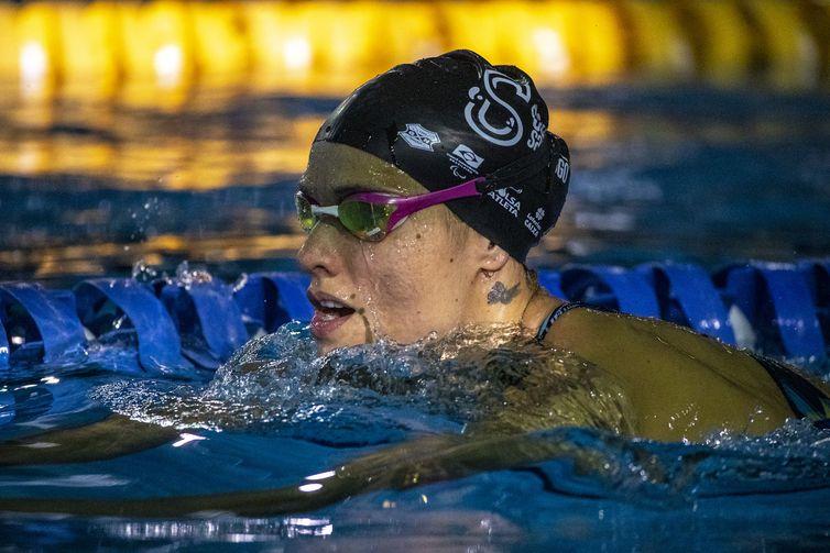 04.06.21 - Carol Santiago durante fase de treinamento seletiva da Natação para Tóquio no CT Paralímpico Brasileiro (CTP) - seletiva