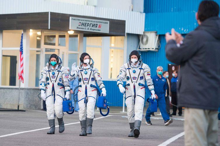 2020 10 14t103110z 1478023453 rc2aij9yxmjn rtrmadp 3 space exploration launch - Astronautas russos e norte-americana partem para Estação Espacial