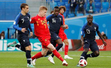 Copa 2018, Bélgica e França, Início de jogo