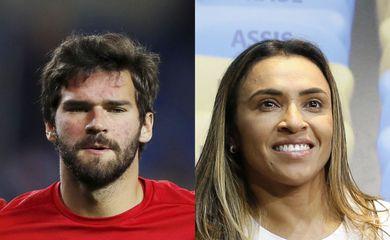 Alisson e Marta no prêmio melhores do mundo este ano, pelo Globe Soccer Awards