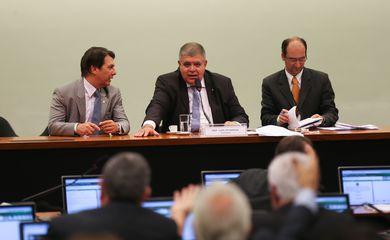 Brasília - O relator, Arthur Maia, e o presidente da Comissão, Carlos Marun, durante a eleição dos membros da Comissão da Previdência (Fabio Rodrigues Pozzebom/Agência Brasil)