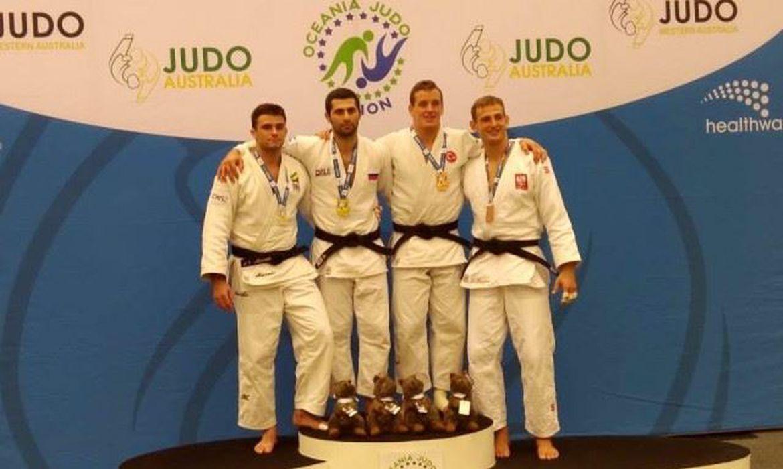 judocas que subiram ao pódio neste fim de semana, no Aberto de Perth, na Austrália.