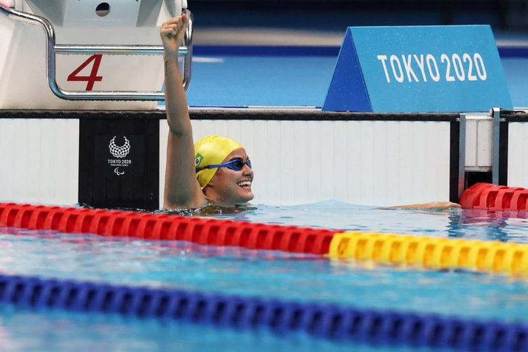 Mariana Ribeiro é bronze nos 100m livre S9 - Paralimpíada - natação