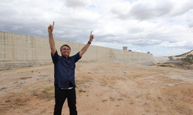 Presidente Jair Bolsonaro esteve em Jucurutu, Rio Grande do Norte, para participar de visita técnica à Barragem de Oiticica.  Câmera: Marcos Corrêa/PR