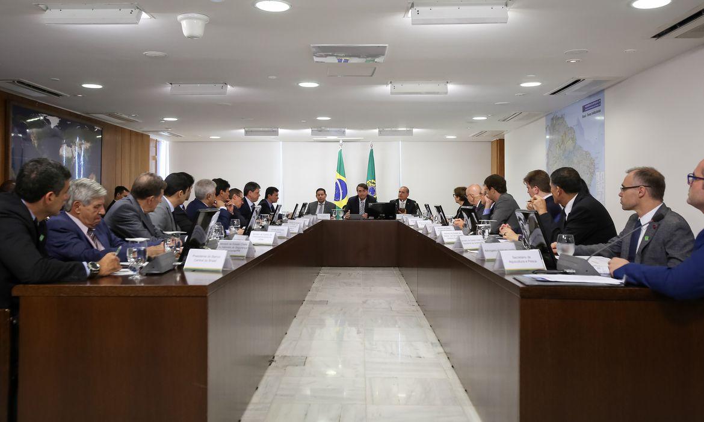 Presidente da República, Jair Bolsonaro, durante Reunião do Conselho de Governo