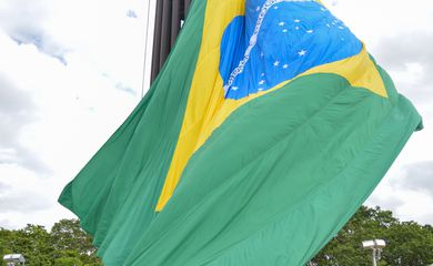 Brasília - O Exército Brasileiro promove a troca da Bandeira Nacional na Praça dos Três Poderes (Fabio Rodrigues Pozzebom/Agência Brasil)