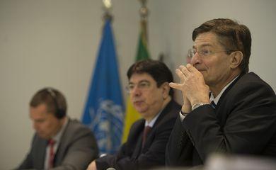 O representante da FAO no Brasil, Alan Bojanic, durante divulgação do relatório Perspectivas Agrícolas: desafios para a agricultura brasileira 2015-2024  pela FAO e OCDE  (Marcelo Camargo/Agência Brasil)