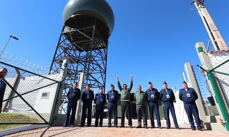 Presidente Jair Bolsonaro participou da inauguração da nova estação radar em Ponta Porã (MS).
